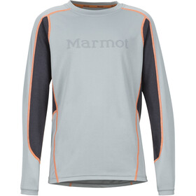 Marmot Windridge Longsleeve Jongens, grey storm/dark steel